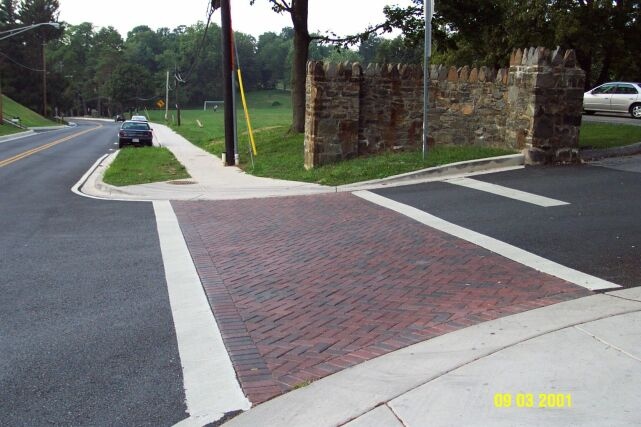 Hoffa Field Entrance part of Main St. Reconstruct in Frederick County for MSHA;