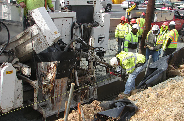 Machine Curb Crew at MD-175 in A.A. County for MSHA