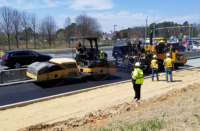 Paving Crew at MD-175 in A.A. County for MSHA