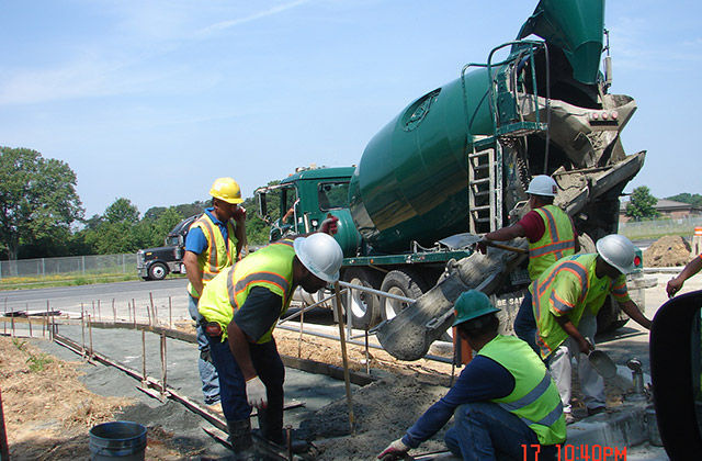 Sidewalk Crew at MD-175 in A.A. County for MSHA