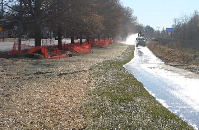 Watering Sod along Bike Path at MD-175 in A.A. County for MSHA
