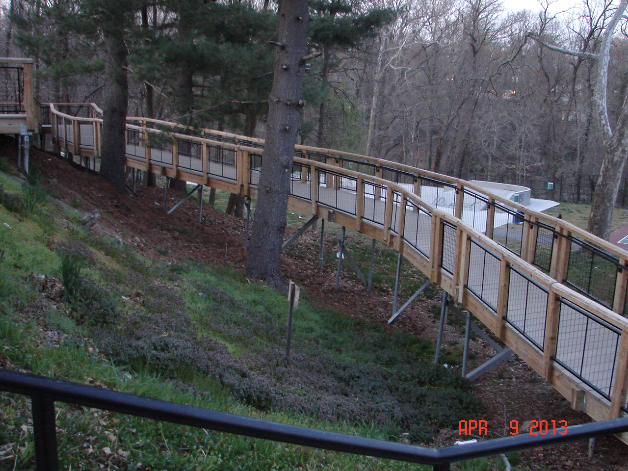 Elevated Walkway at Takoma Piney Branch Park, Montgomery County for MD-NCP&PC